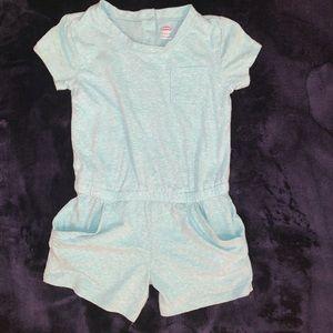 Little girls 5T short sleeve pocket Romper
